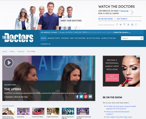 Upbra on The Doctors TV Show
